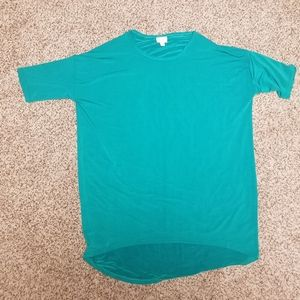 Large LuLaRoe Solid Green Top